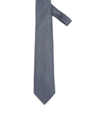 Brioni: ties & bow ties - Optical pattern silk tie