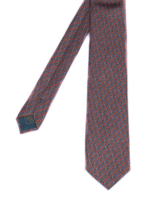 BRIONI: ties & bow ties - Patterned silk tie