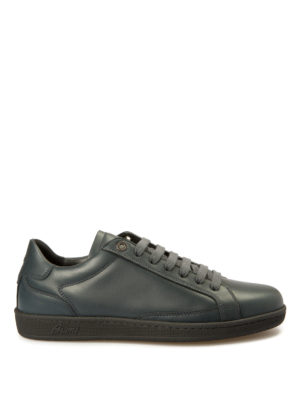 Brioni: trainers - Gymnasium leather sneakers