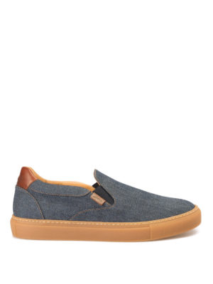 Brioni: trainers - Larry denim slip-on