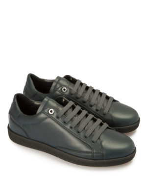 Brioni: trainers online - Gymnasium leather sneakers