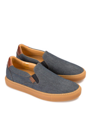 Brioni: trainers online - Larry denim slip-on