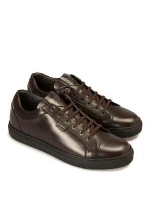Brioni: trainers online - Smooth leather sneakers