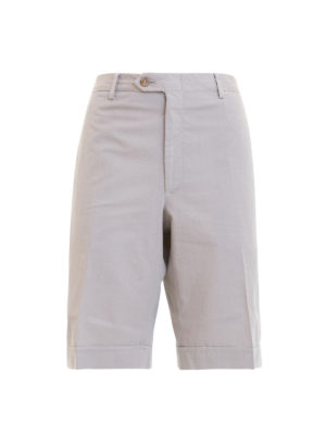 Brioni: Trousers Shorts - Beige cotton short chino trousers