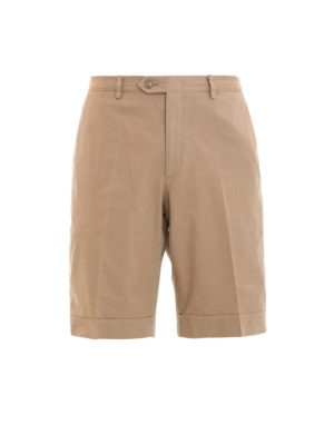 Brioni: Trousers Shorts - Chino-style cotton shorts