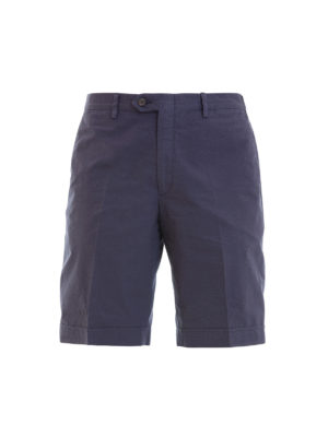 Brioni: Trousers Shorts - Cotton tailored shorts