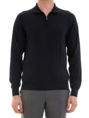 Brioni: Turtlenecks & Polo necks online - Long sleeves cotton polo shirt