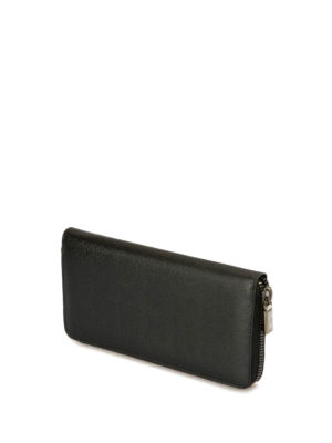 Brioni: wallets & purses online - Saffiano leather zip around wallet