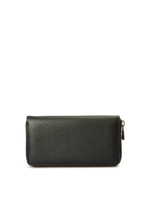 Brioni: wallets & purses - Saffiano leather zip around wallet