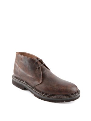 Brunello Cucinelli: ankle boots online - Vintage leather desert boots