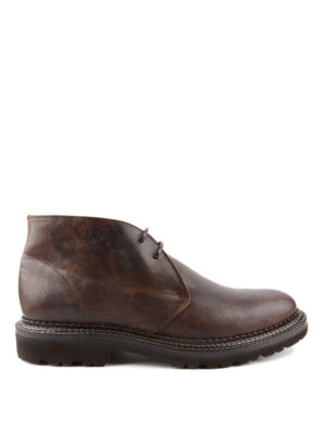 Brunello Cucinelli: ankle boots - Vintage leather desert boots