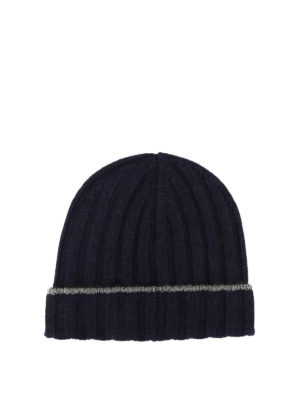 Brunello Cucinelli: beanies - Ribbed cashmere beanie