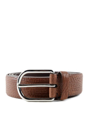 Brunello Cucinelli: belts - Crackle leather belt