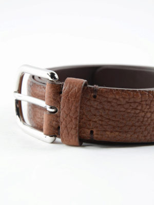 Brunello Cucinelli: belts online - Crackle leather belt