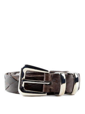 Brunello Cucinelli: belts - Woven leather belt