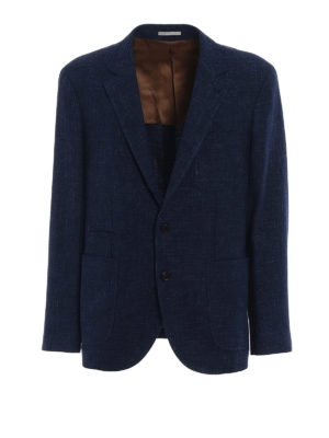 Brunello Cucinelli: blazers - Linen and silk blend blazer