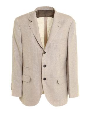 Brunello Cucinelli: blazers - Linen blend unstructured blazer