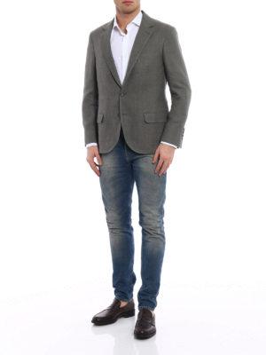 Brunello Cucinelli: blazers online - Grey linen unstructured blazer
