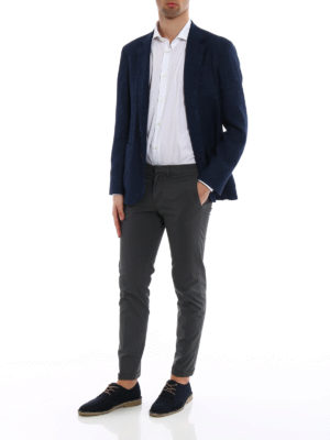 Brunello Cucinelli: blazers online - Linen and silk blend blazer