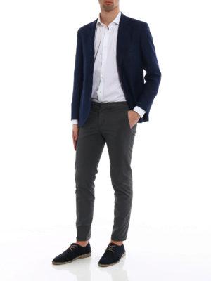 Brunello Cucinelli: blazers online - Linen blend hopsack blazer