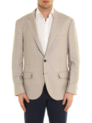 Brunello Cucinelli: blazers online - Linen blend unstructured blazer