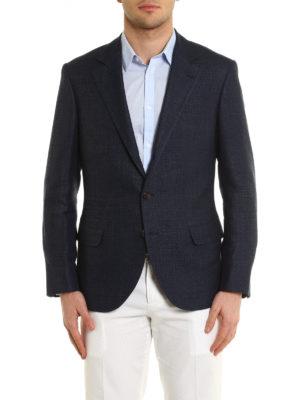 Brunello Cucinelli: blazers online - Linen wool and silk blend blazer