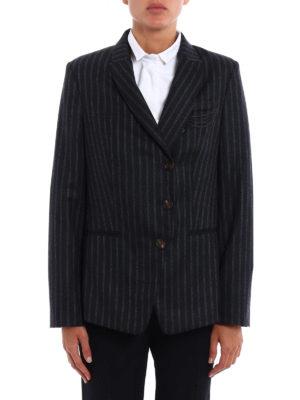 Brunello Cucinelli: blazers online - Precious Detail pinstripe blazer