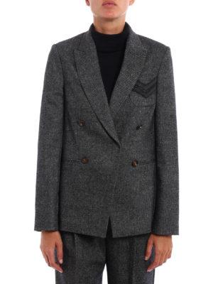 Brunello Cucinelli: blazers online - Precious Military Pocket blazer