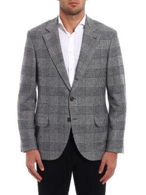 Brunello Cucinelli: blazers online - Prince of Wales wool blend blazer