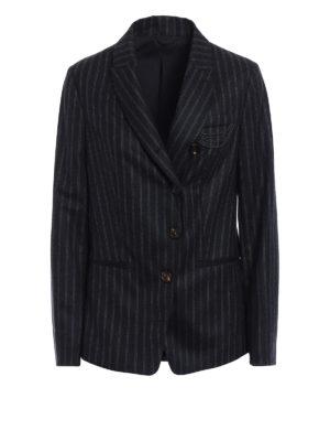 Brunello Cucinelli: blazers - Precious Detail pinstripe blazer