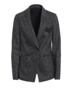 Brunello Cucinelli: blazers - Precious Military Pocket blazer