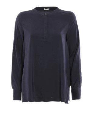 Brunello Cucinelli: blouses - Long sleeves silk blouse