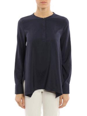 Brunello Cucinelli: blouses online - Long sleeves silk blouse