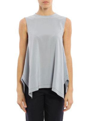 Brunello Cucinelli: blouses online - Silk monili trims sleeveless blouse