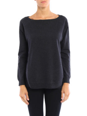 Brunello Cucinelli: boat necks online - Cashmere sweater with silk top