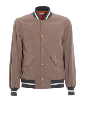 Brunello Cucinelli: bombers - Contrasting edges bomber jacket