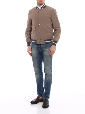 Brunello Cucinelli: bombers online - Contrasting edges bomber jacket