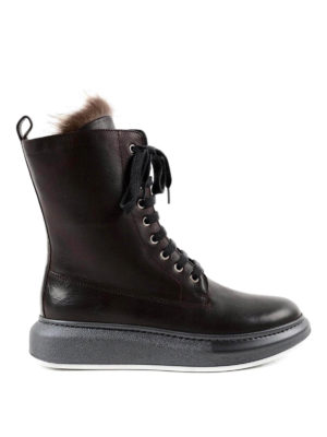 Brunello Cucinelli: boots - Fox fur inner leather boots