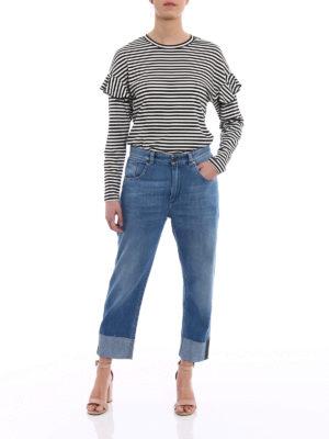 Brunello Cucinelli: Boyfriend online - The Cropped Jean raw edge pants