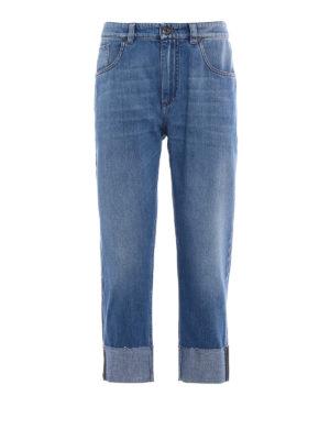 Brunello Cucinelli: Boyfriend - The Cropped Jean raw edge pants