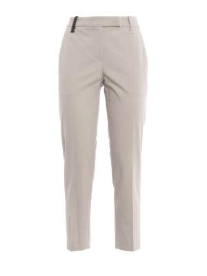 Brunello Cucinelli: capris - Bon ton cotton capri trousers