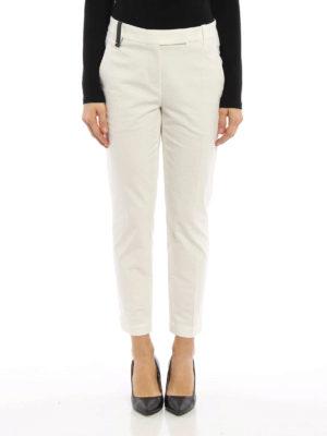 Brunello Cucinelli: capris online - Bon ton cotton capri trousers