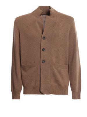 BRUNELLO CUCINELLI: cardigan - Cardigan in cashmere color cammello