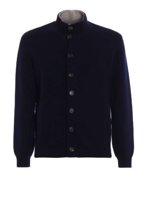 Brunello Cucinelli: cardigans - Cashmere jersey buttoned cardigan