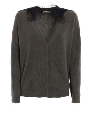 Brunello Cucinelli: cardigans - Embellished shoulders cardigan