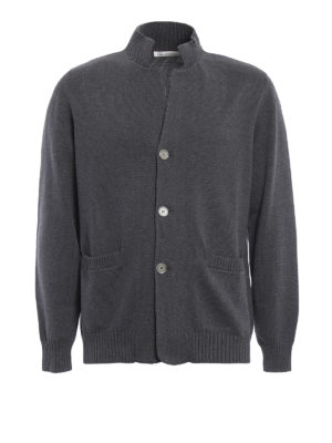 Brunello Cucinelli: cardigans - Knitted cotton classic cardigan