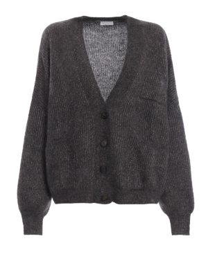 BRUNELLO CUCINELLI: cardigan - Cardigan corto in morbido mohair e lurex