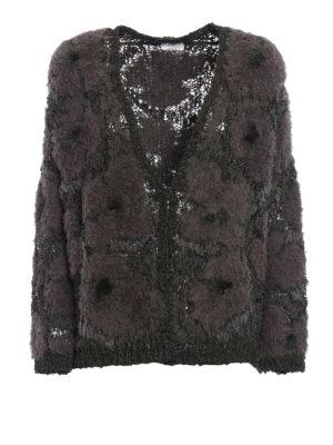 Brunello Cucinelli: cardigans - Multi fabric fluffy cardigan