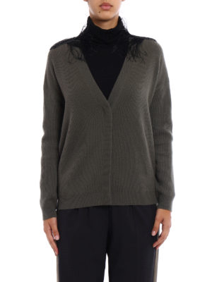 Brunello Cucinelli: cardigans online - Embellished shoulders cardigan