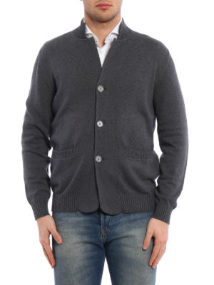 Brunello Cucinelli: cardigans online - Knitted cotton classic cardigan